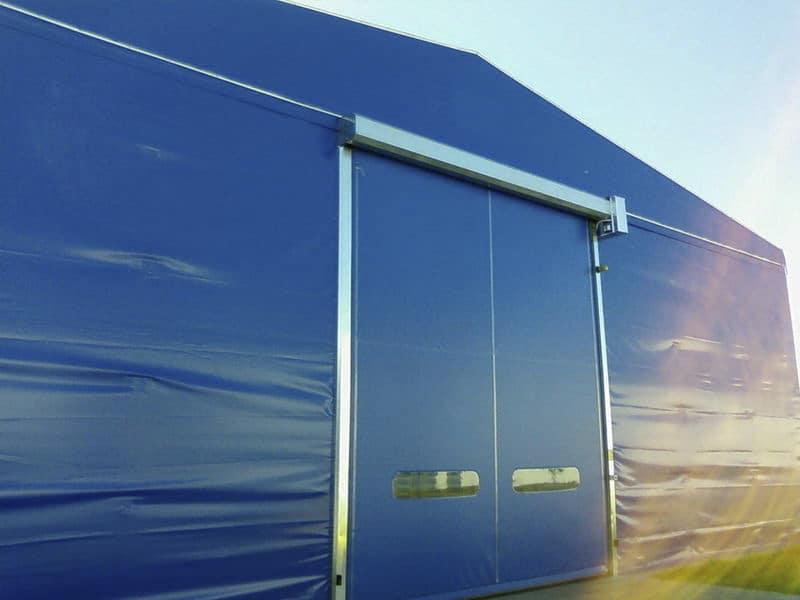 porta rapida autoriparabile per chiusura capannone pvc